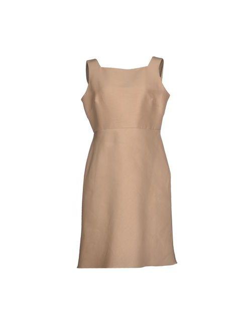 Valentino | Женское Бежевое Платье До Колена