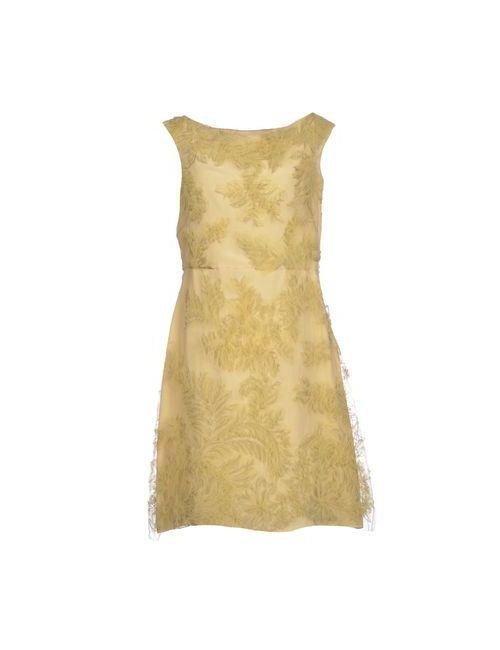 Valentino | Женское Жёлтое Короткое Платье