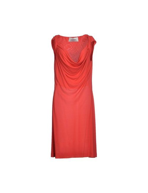 Valentino   Женское Красное Платье До Колена