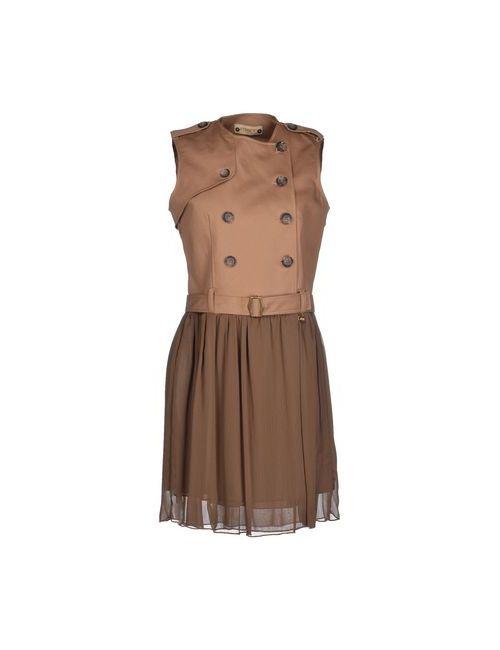 MET & FRIENDS | Женское Хаки Короткое Платье