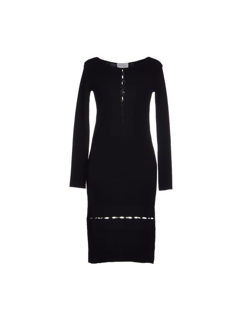 Paolo Errico | Женское Чёрное Платье До Колена