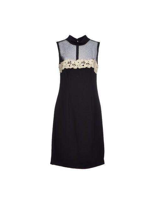 X'S Milano   Женское Чёрное Короткое Платье