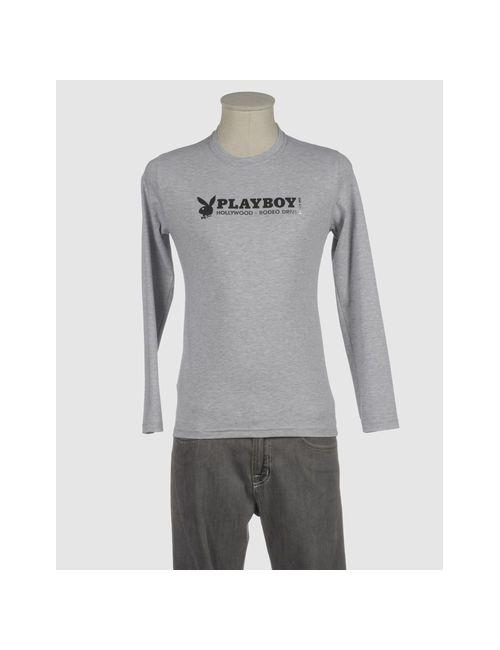 Playboy | Мужская Серая Футболка С Длинными Рукавами