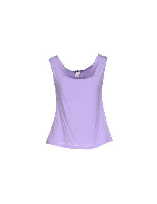 Blue Les Copains | Женский Фиолетовый Топ Без Рукавов