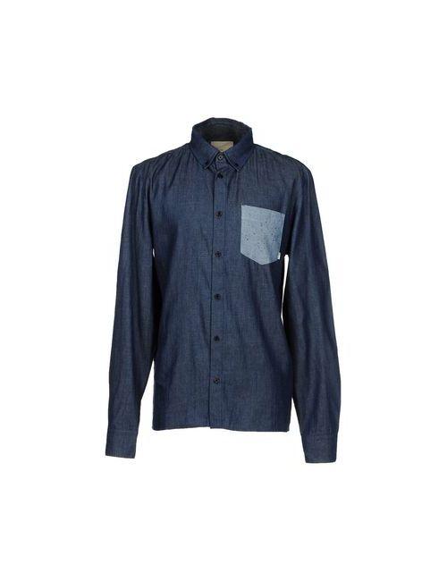 Rvlt/Revolution | Мужская Синяя Джинсовая Рубашка