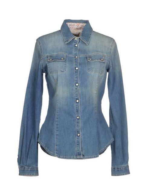 Blue Les Copains   Женская Джинсовая Рубашка