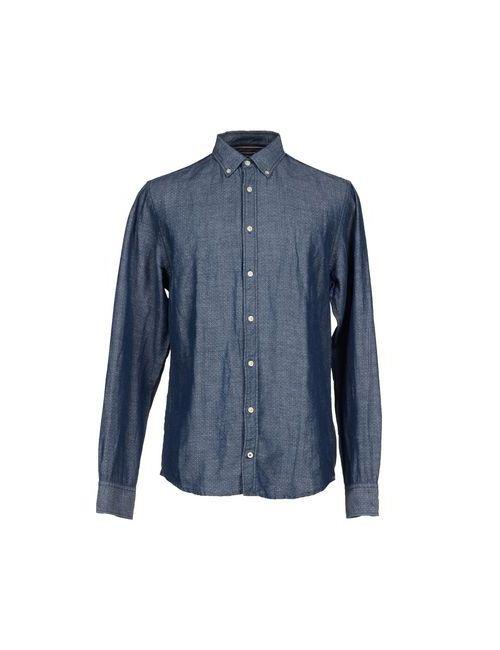 Tommy Hilfiger | Мужская Синяя Джинсовая Рубашка