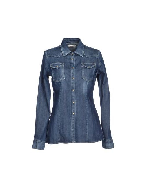 Dondup | Женская Синяя Джинсовая Рубашка