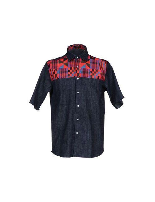 Flage | Мужская Синяя Джинсовая Рубашка