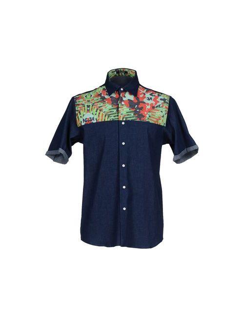Flage   Мужская Синяя Джинсовая Рубашка