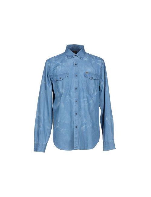 Obey | Мужская Синяя Джинсовая Рубашка