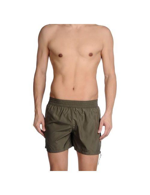 John Galliano Beachwear   Мужские Зелёные Шорты Для Плавания