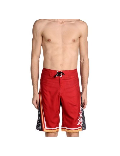 Billabong | Мужские Красные Пляжные Брюки И Шорты