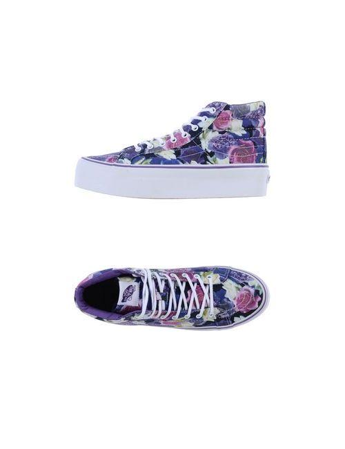 Vans | Женские Фиолетовые Высокие Кеды И Кроссовки