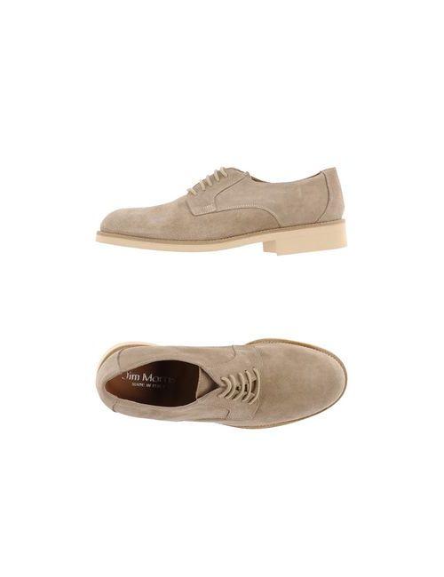 JIM MORRIS | Мужская Бежевая Обувь На Шнурках
