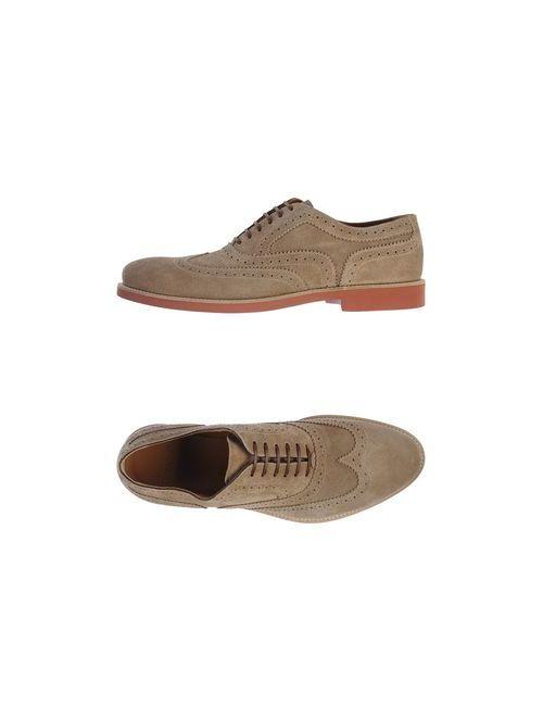 Doucal's | Мужская Бежевая Обувь На Шнурках