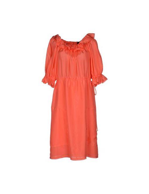Fendi | Женское Розовое Платье До Колена