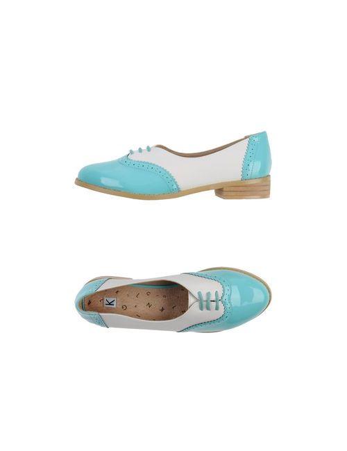KLING   Женская Бирюзовая Обувь На Шнурках