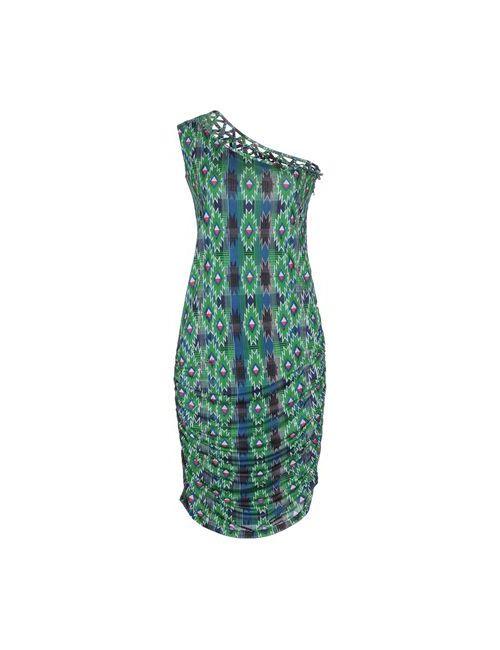 Pam & Arch   Женское Зелёное Платье До Колена
