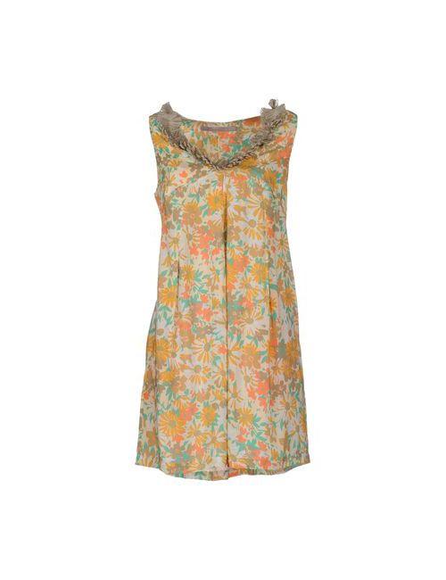 Rosamunda | Женское Абрикосовое Короткое Платье