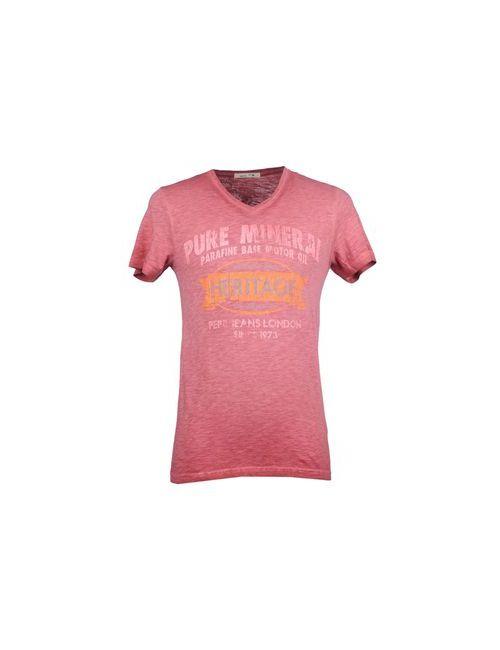 Pepe Jeans | Мужская Розовая Футболка
