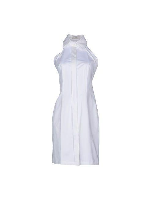 Clió | Женское Белое Платье До Колена