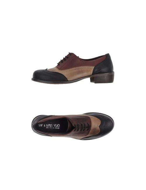 Mr & Mrs Yuo | Женская Чёрная Обувь На Шнурках
