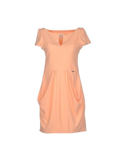 Maison Espin | Женское Абрикосовое Короткое Платье