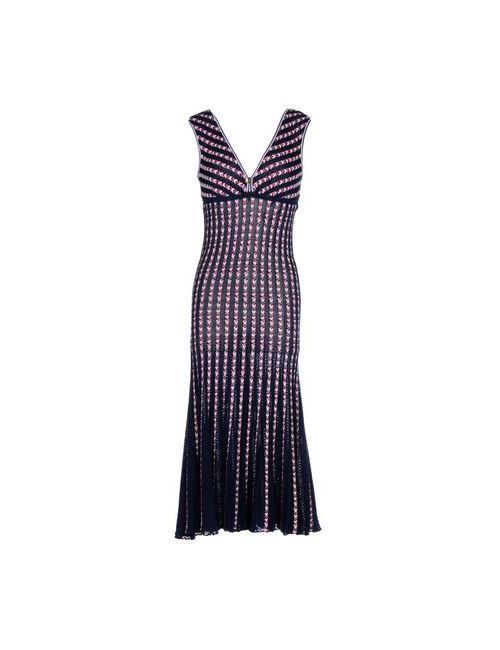 Class Roberto Cavalli | Женское Синее Платье Длиной 3/4