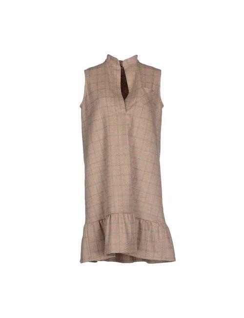 Rose' A Pois | Женское Песочное Короткое Платье