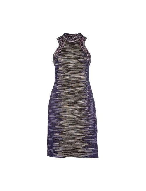 Missoni | Женское Фиолетовое Короткое Платье