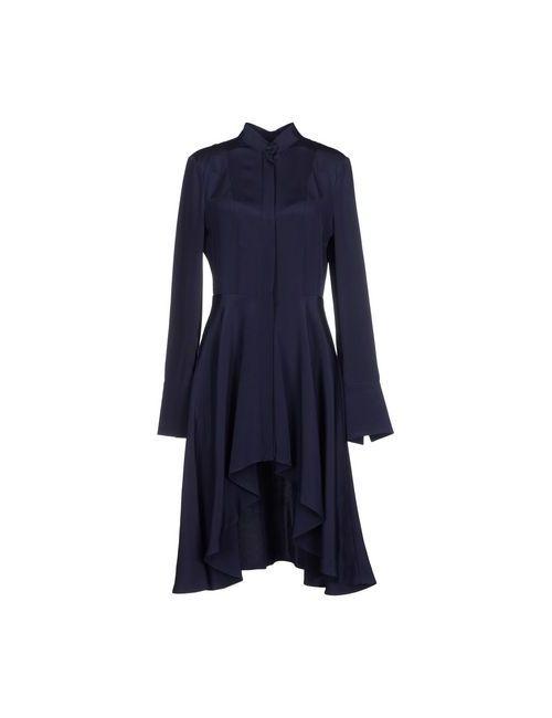 Alexander McQueen | Женское Синее Короткое Платье