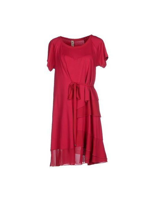 Le Coeur De Twin-Set Simona Barbieri | Женское Фуксия Короткое Платье