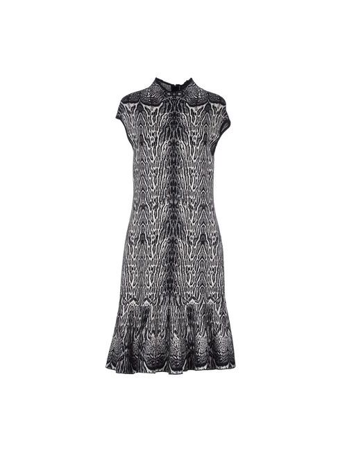 Roberto Cavalli | Женское Серое Короткое Платье