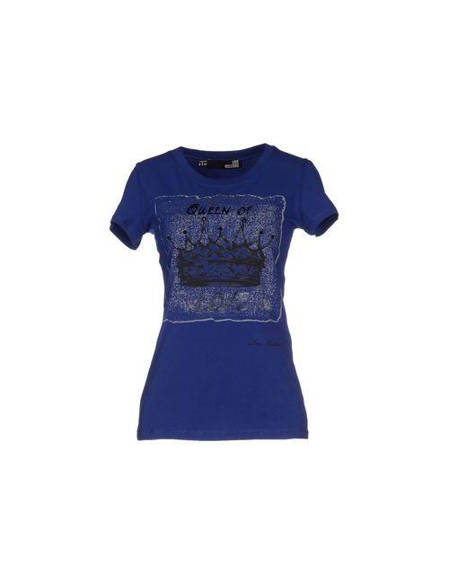 Love Moschino | Женская Синяя Футболка