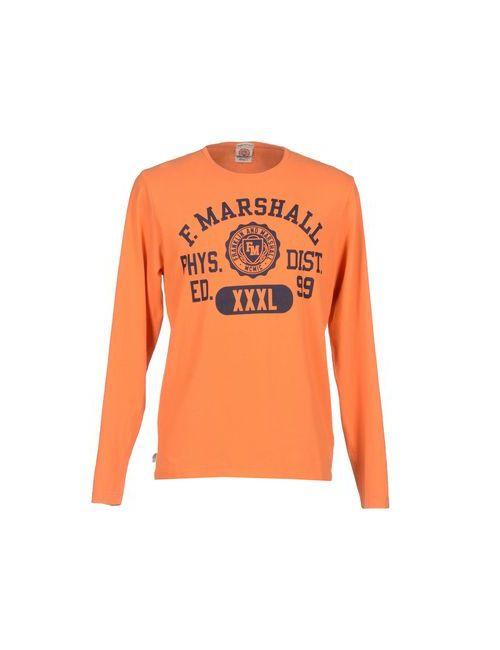 Franklin & Marshall | Мужская Оранжевая Футболка
