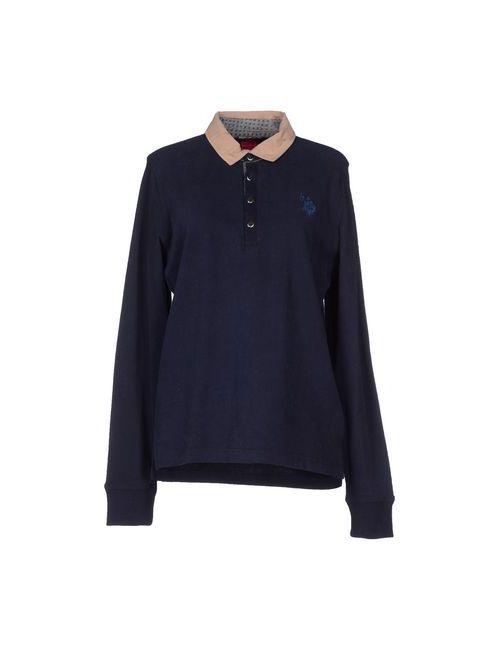 U.S. Polo Assn. | Женское Синее Поло