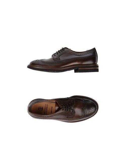 Brunello Cucinelli   Мужская Коричневая Обувь На Шнурках