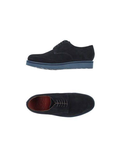 Grenson | Мужская Синяя Обувь На Шнурках