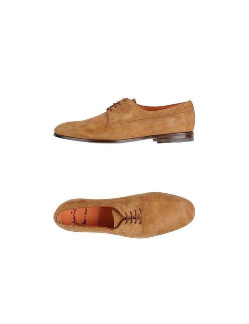 Santoni | Мужская Обувь На Шнурках