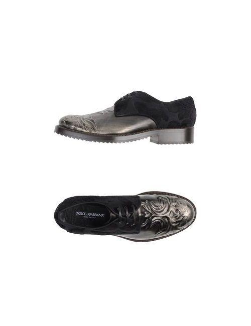Dolce & Gabbana | Мужская Серая Обувь На Шнурках