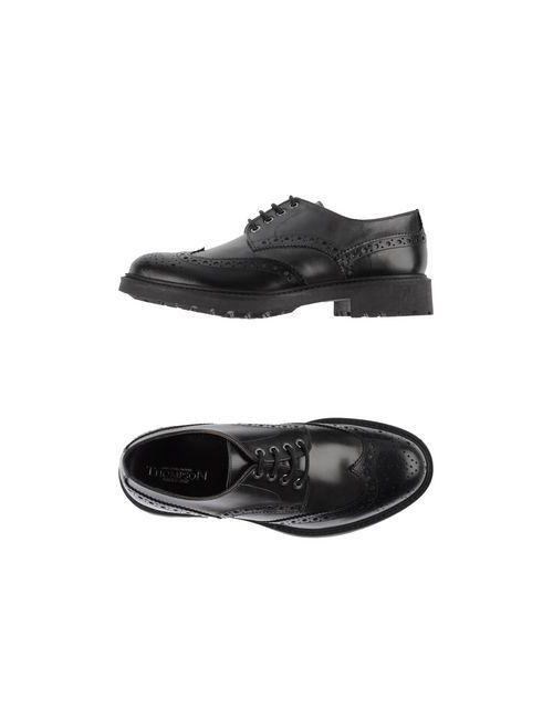 Thompson | Мужская Чёрная Обувь На Шнурках
