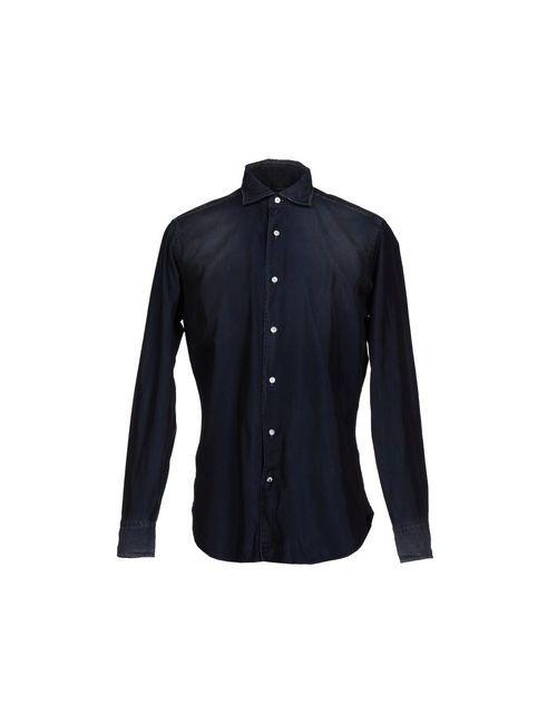 TRUZZI | Мужская Синяя Джинсовая Рубашка