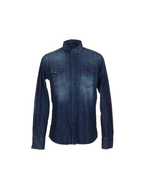 HTC | Мужская Синяя Джинсовая Рубашка