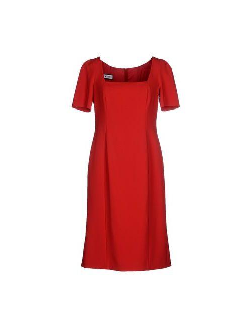 Moschino | Женское Красное Короткое Платье