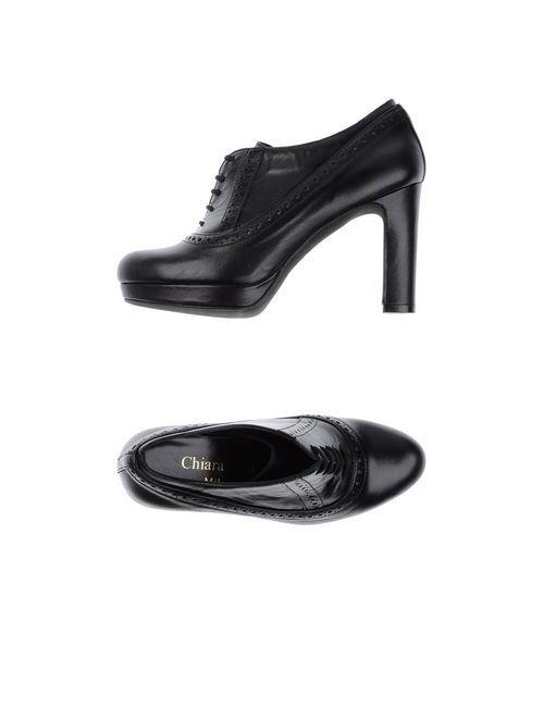 Chiara Luna | Женская Чёрная Обувь На Шнурках
