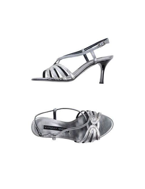Vitulli Moda | Женские Серебристые Сандалии