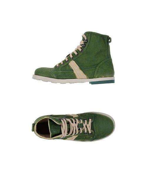 O.X.S. | Мужские Зелёные Высокие Кеды И Кроссовки