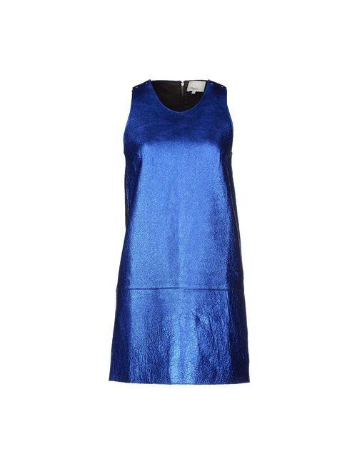 3.1 Phillip Lim | Женское Синее Короткое Платье