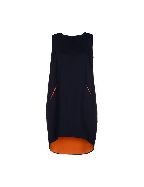 1 one | Женское Синее Короткое Платье